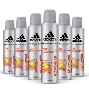 Kit-Desodorante-Aerossol-Antitranspirante-Adidas-Adipower-Masculino-com-6-Unidades