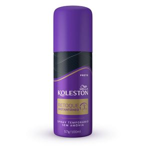 Retoque-Instantaneo-Spray-Koleston-cor-Preto-com-100ml