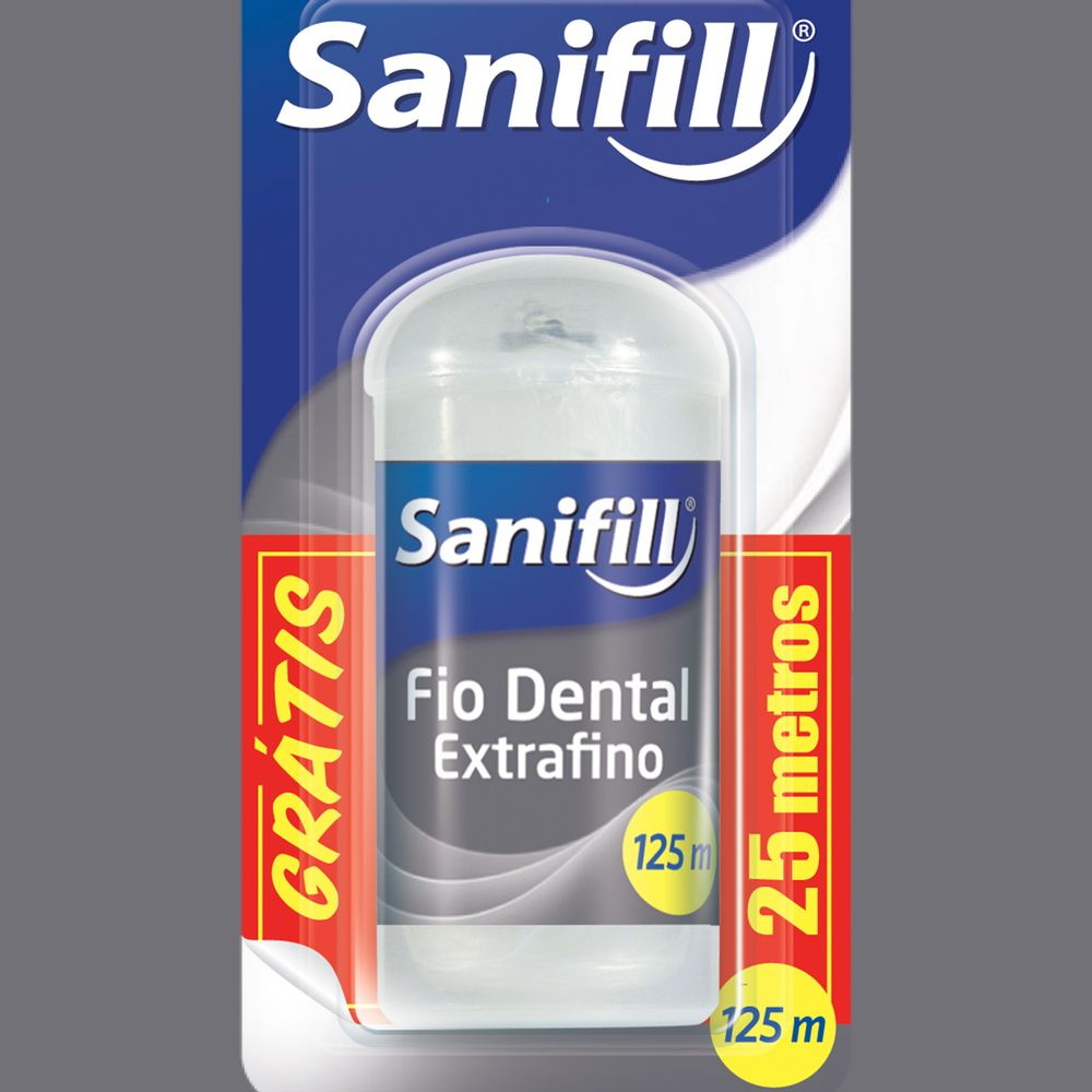 3d2c0afc5 Fio Dental Sanifill Extra Fino Pague 100 Leve 125 metros - Coty