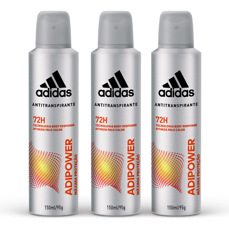 hilo lanzamiento marea  Kit com 3 Desodorantes Aerossol Antitranspirante Adidas Adipower Masculino  com 150ml - Coty Mobile